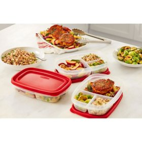 Rubbermaid Easy Find Lids Meal Prep Food Storage Containers, 14-Piece Set