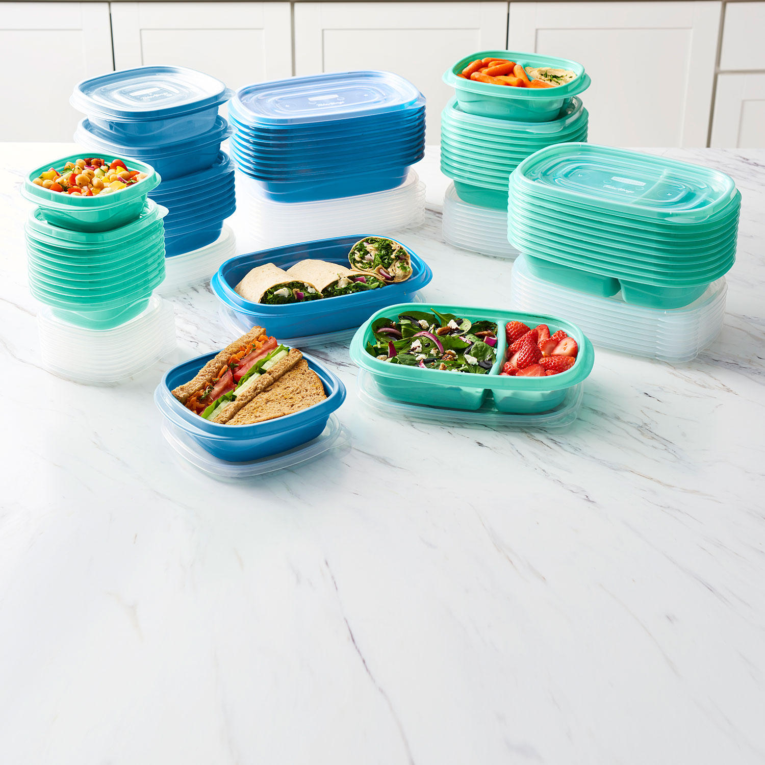 100-Piece Rubbermaid Meal Prep Food Storage Containers Set