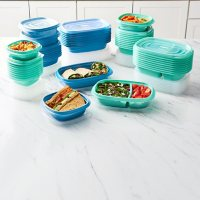 Rubbermaid 100-Piece Meal Prep Food Storage Containers Set (Assorted Colors)