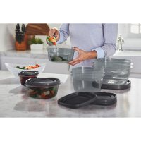 Rubbermaid Easy Find Lids Food Storage Containers with SilverShield Antimicrobial Product Protection, 46-Piece Set