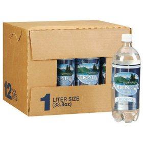 Adirondack Original Seltzer Water (1L plastic bottles, 12 pk.)
