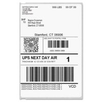 DYMO - Label Writer Shipping Labels, 4 x 6, White -  220/Roll