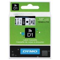 DYMO - D1 Label Tape, Black on White - Various Sizes