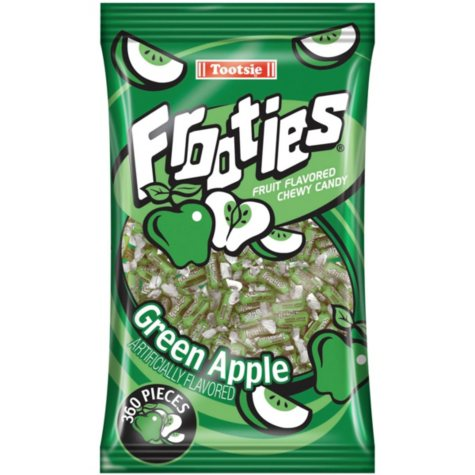 Frooties Green Apple Chewy Candy - 360 ct.