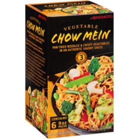 Ajinomoto Vegetable Chow Mein, Frozen (9 oz. per pack, 6 packs)