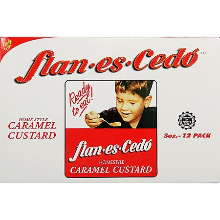 Flan Es Cedo Home Style Caramel Custard (12 pk.)