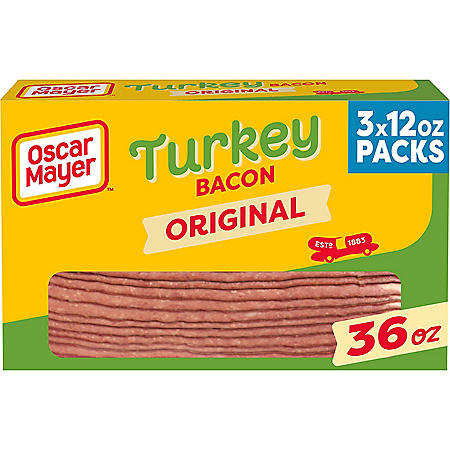 Oscar Mayer Turkey Bacon (36 oz., 3 pk.)