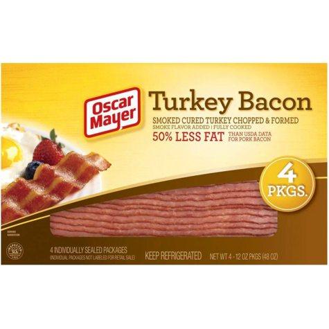 Oscar Mayer Turkey Bacon - 12 oz. - 4 pk.