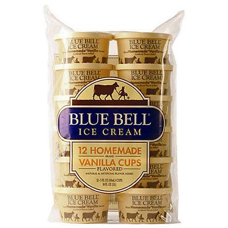 Blue Bell Homemade Vanilla Ice Cream Cups (12 ct  3 oz