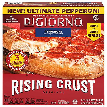 DiGiorno Original Rising Crust Pepperoni Frozen Pizza (3 pk.)