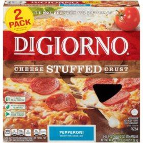 DiGiorno Cheese Stuffed Crust Pepperoni Frozen Pizza (22.2 oz., 2 pk.)