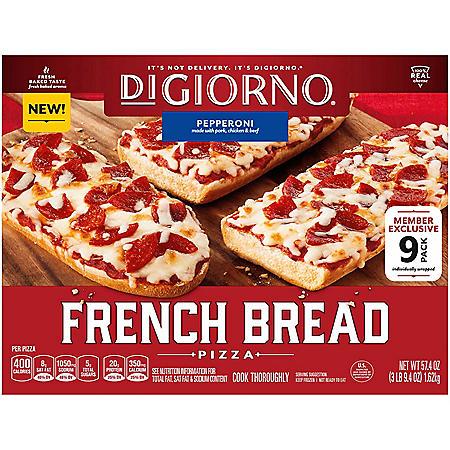 DiGiorno Pepperoni French Bread Pizza, Frozen (9 ct.)