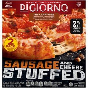 DiGiorno The Carnivore Pizza, Sausage and Cheese Stuffed Crust (2 pk.)
