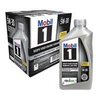 Mobil 1 5W-30 Motor Oil (6 pack, 1-quart bottles)