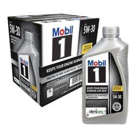 Mobil 1 5W-30 Motor Oil (1-qt. bottles, 6 pk.)
