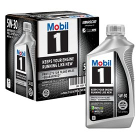 Mobil 1 5W-30 Motor Oil (6 pack, 1-quart bottles)