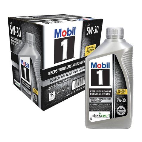 Mobil 1 5W-30 Motor Oil (6-pack / 1-quart bottles)