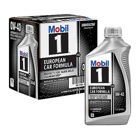 Mobil 1 FS 0W-40 Synthetic Motor Oil (6 pack, 1-quart bottles)