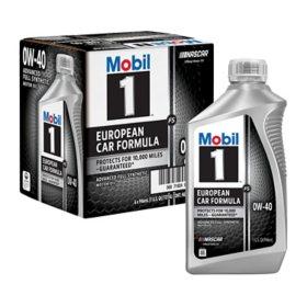 Mobil 1 FS 0W-40 Synthetic Motor Oil (1-qt. bottles, 6 pk.)