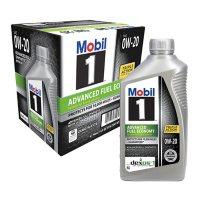 Mobil 1 0W-20 Advanced Fuel Economy Motor Oil (6 pack, 1-quart bottles)