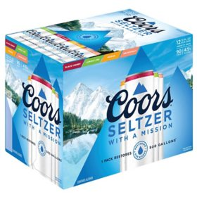 Coors Hard Seltzer Variety Pack (12 fl. oz. can, 12 pk.)