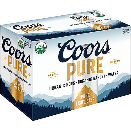 Coors Pure Variety Pack Beer (12 fl. oz., 24 pk.)