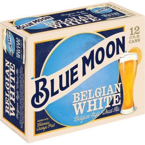 Blue Moon Belgian White Ale (12 oz. cans, 12 pk.)