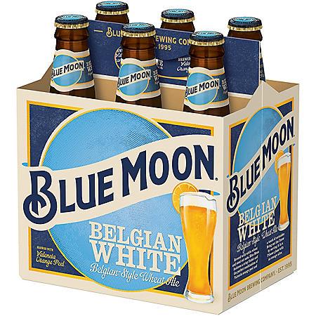 Blue Moon Belgian White Ale (12 fl. oz. bottle, 6 pk.)