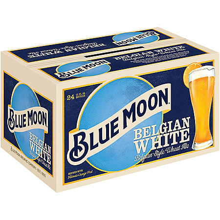 Blue Moon Belgian White Ale (12 fl. oz. bottle, 24 pk.)