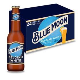 Blue Moon Belgian White Ale (12 fl. oz. bottle, 24 pk.)