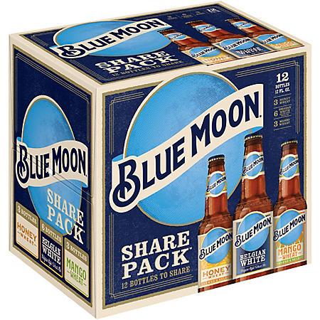 Blue Moon Variety Share Pack Beer (12 fl. oz. bottle, 12 pk.)
