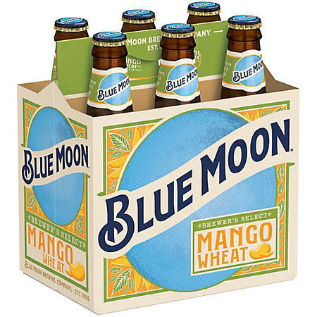 Blue Moon Mango Wheat Ale (12 fl. oz. bottle, 6 pk.)