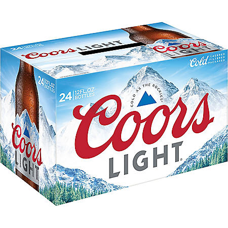 Coors Light American Light Lager Beer (12 fl. oz. bottle, 24 pk.)