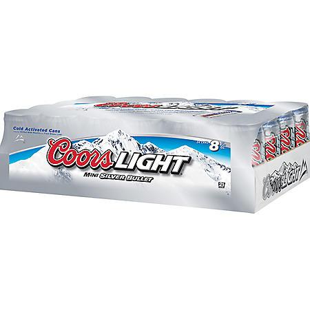 Coors Light  (8 fl. oz. cans, 24 pk.)