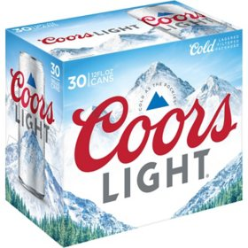 Coors Light American Light Lager Beer (12 fl. oz. can, 30 pk.)