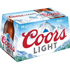 Coors Light Beer (12 oz. bottles, 18 pk.)