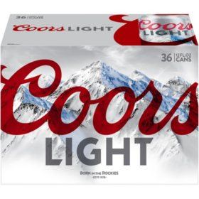 Coors Light Beer (12 fl. oz. can, 36 pk.)