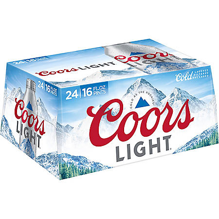 Coors Light American Light Lager Beer (16 fl. oz. aluminum bottle, 24 pk.)