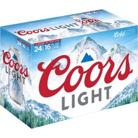 Coors Light American Light Lager Beer (16 fl. oz. can, 24 pk.)