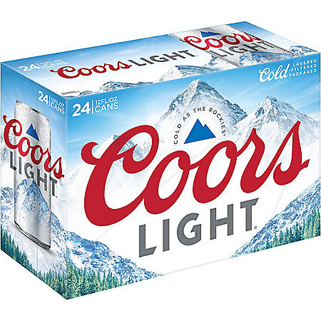 Coors Light American Light Lager Beer (12 fl. oz. can, 24 pk.)