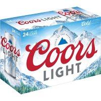 Coors Light American Light Lager Beer (12 fl. oz. can, 24 pk.)