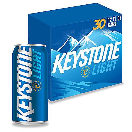 Keystone Light (12 fl. oz. can, 30 pk.)