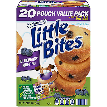 Entenmann's Little Bites Blueberry Muffins (1.65oz / 20pk)