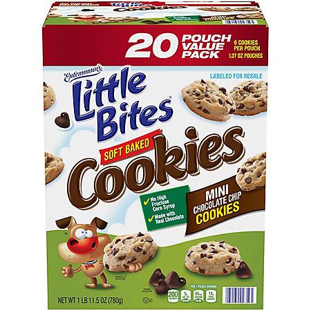 Entenmann's Little Bites Mini Chocolate Chip Cookies (1.37oz., 20 ct.)