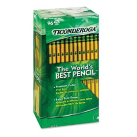 Ticonderoga Woodcase Pencil, HB #2, Yellow Barrel, 96ct.