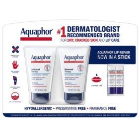 Aquaphor Ointment and Lip Repair (3 oz., 2 pk.)