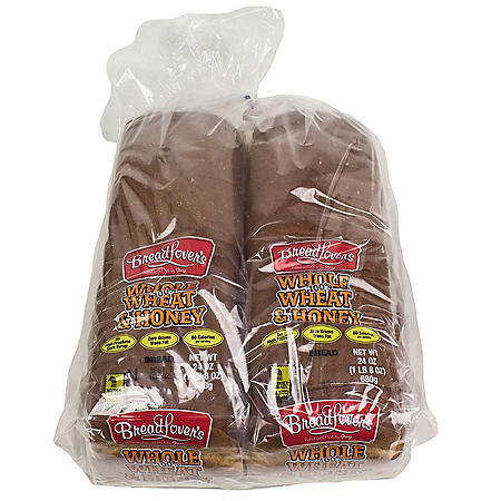 Bread Lover's Whole Wheat and Honey Bread (24oz / 2pk)