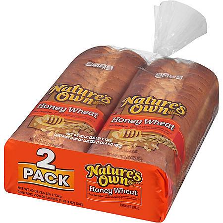 Nature's Own Honey Wheat Bread (20oz / 2pk)
