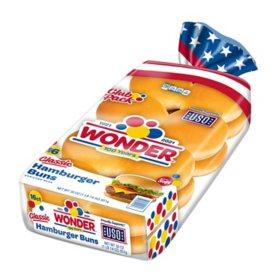 Wonder Hamburger Buns (16 ct., 30 oz.)