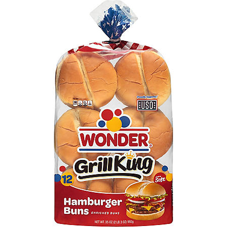 Wonder Grill King Hamburger Buns (35oz)